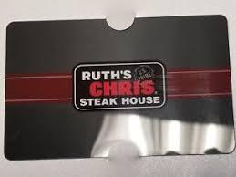 ruth chris gift cards ruth s chris gift card ebay
