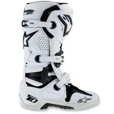 white motocross boots alpinestars new 2018 mx tech 10 dirt bike black white