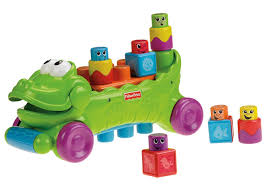 amazon com fisher price stack u0027n surprise blocks musical croc
