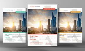 Real Estate Brochure Template by Real Estate Flyer Template Flyer Templates Creative Market