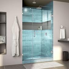 39 in x 78 in frameless fixed panel shower door in chrome