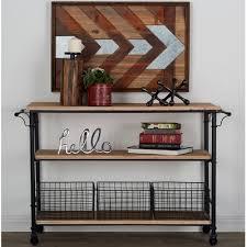 cole u0026 grey metal and wood basket utility cart u0026 reviews wayfair