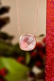 gold rose quartz necklace images Rose quartz cushion bezel pendant arden jewelers 8603 arden jpg