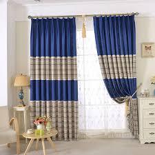 Blue Plaid Curtains Chic Blue Beige Cotton Linen Plaid Curtains For Boys Bedroom