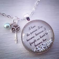inspirational pendants yourself inspirational quote necklace inspirational
