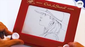 amazing etch a sketch artwork lady gaga youtube