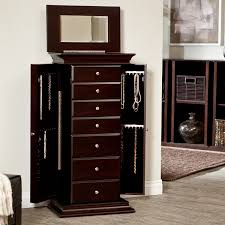 Anti Tarnish Jewelry Armoire Amazon Com Belham Living Harper Jewelry Armoire Kitchen U0026 Dining