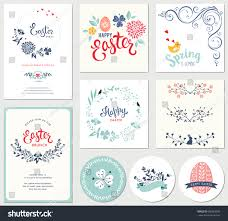 easter templates eggs flowers floral wreaths stock vector