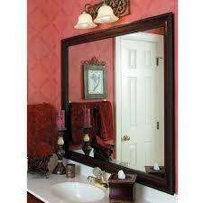cherry wood frame bath mirror frame mirrormate frames
