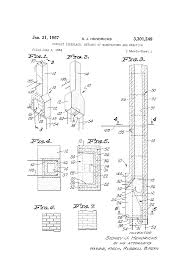 patent us3301249 precast fireplace methods of manufacture and