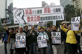 thousands protest missing booksellers in hong kong pbs newshour