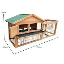 Rabbit Hutch Plans 2 Tier Level Wooden Rabbit Hutch With Run Pet House Home Ferret