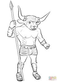 minotaur coloring page free printable coloring pages