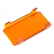 orange led light bar auxbeam 6 inch amber pc protective lens cover for led light bar