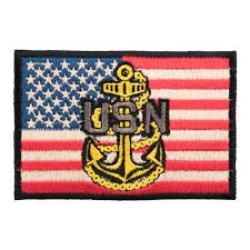 Navy Flag Meanings Patriotic U S Flag Patches Iron On Sew On Embroidered Patches