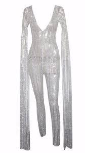 sleeve sequin jumpsuit plunge neck stripe sequin floor length sequin bat sleeve