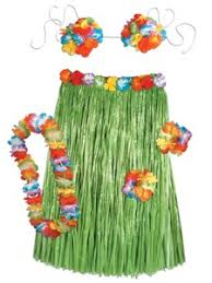 Tropical Themed Clothes - luau party costumes hula grass skirts u0026 leis partycheap