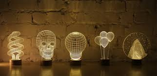 trippy bulbing lamps appear to have a three dimensional form lamps