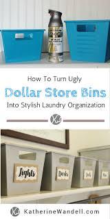 Storage Laundry Room by Dollar Store Bins Into Stylish Laundry Storage Katherine Wandell