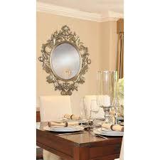 home decorators mirror manor brook ella 38 in x 28 in oval polyurethane framed mirror