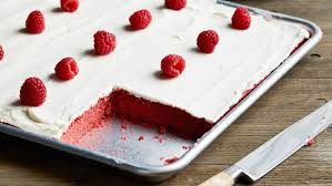 red velvet sheet cake with classic red velvet frosting recipe
