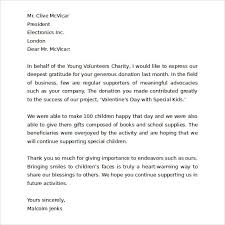 thank you for your business letter business fundraising letter