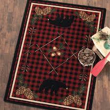 adirondack plaid bear rug collection