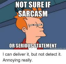 Not Sure If Meme Generator - not sure if sarcasm or seriousstatement memegenerator net i can
