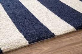 Blue And White Area Rugs Navy Blue And White Striped Area Rug Best Decor Things