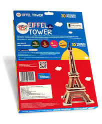genius box eiffel tower 3d wooden puzzle 22 pieces