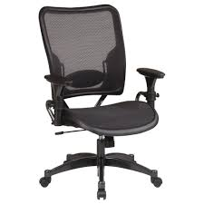 Black And White Desk Chair by Space Seating Black Airgrid Back Office Chair 6216 The Home Depot