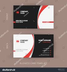 creative clean business card template black imagem vetorial de