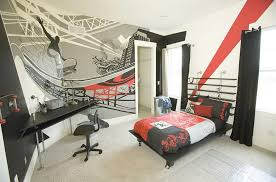 Modern Bedroom Decor Indoor Graffiti Art For Fascinating Home Decor Also Wonderful