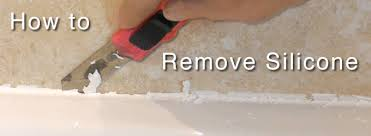 to remove silicone sealant from a bath or shower