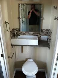 bathroom sink ideas for small bathroom best 25 tiny half bath ideas on rustic shelves half