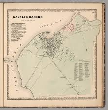 Map Of New York Harbor by Sackets Harbor Jefferson County New York David Rumsey