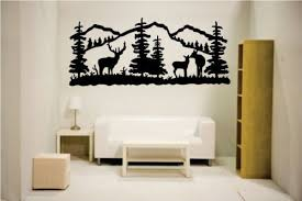 Home Decor Decals Amazon Com Newclew Elk Deer Nature Mountain Hunting Removable