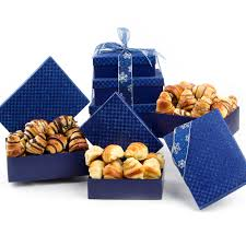 pastry gift baskets 3 tier rugelach pastry gift tower nut gift