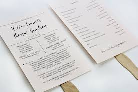 wedding fan programs diy 3 steps to a stylish wedding program fan lci paper