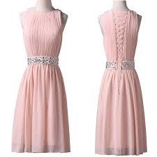 light pink graduation dresses light pink jewel sleeveless chiffon lace up back homecoming dresses