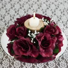 Candle Rings 8 Pack Of Artificial Burgundy Candle Rings Wedding
