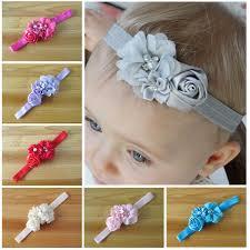 felt flower headband 2017 children flower headband 12 colors pearl lace hairband