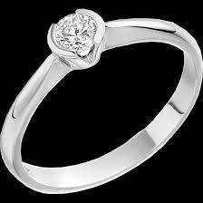 inel de logodna aur alb inel de logodna solitaire dama aur alb 18kt cu un diamant rotund