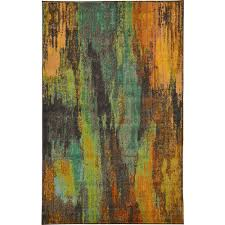 3584 Best Color And Paint by Unique Loom Barcelona Multi 5 Ft X 8 Ft Area Rug 3119610 The