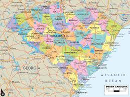 Road Map Usa Carolina Counties Road Map Usa