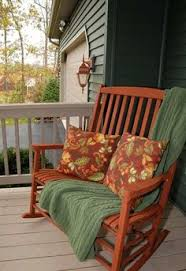 black double porch rocker for cuddling on your front porch in the