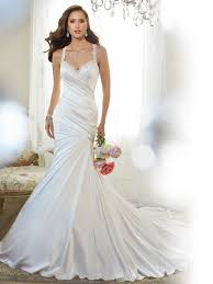 wedding dresses without straps fit and flare wedding dress with shoulder straps