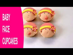Baby Shower Cakes How To Make Baby Face Cupcakes By Busi