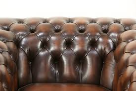 Chesterfield Tufted Leather Sofa by Chesterfield Tufted Brown Leather Vintage Scandinavian Tub Chair