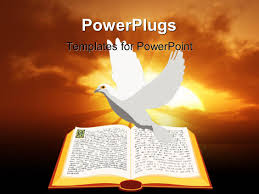 powerpoint template an old bible and cross for religious studies